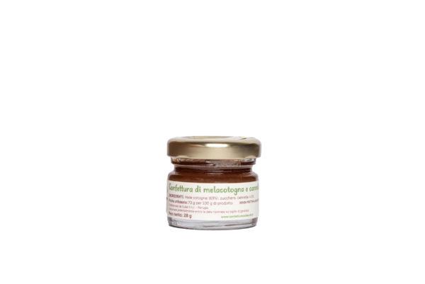 Monoporzione confettura artigianale di melecotogne e cannella