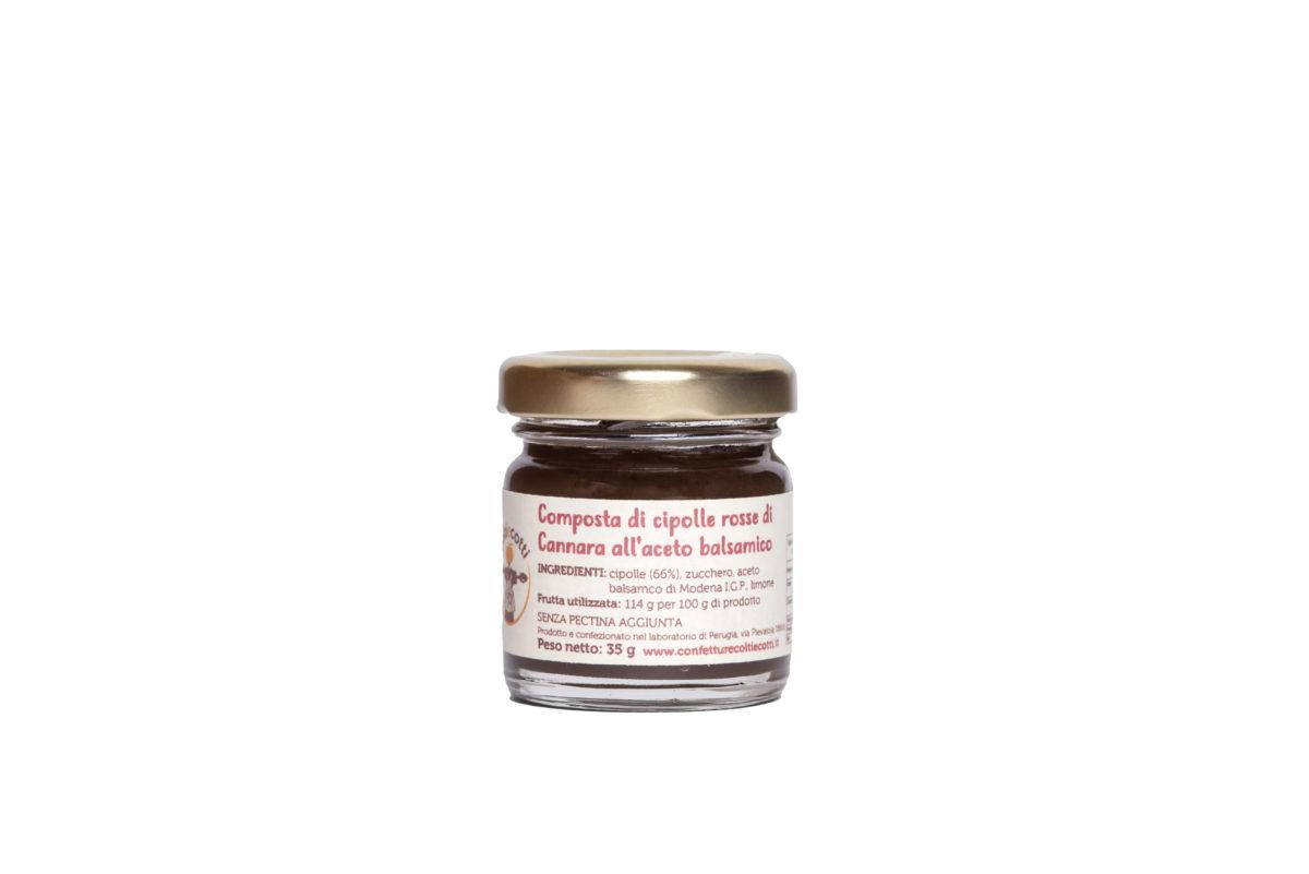 Composta artigianale di cipolla rossa di Cannara - formato 40ml