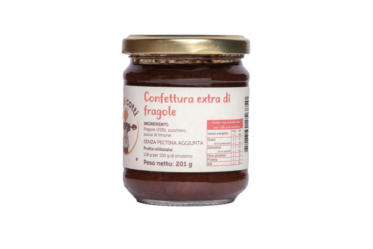Confettura extra artigianale di fragole - formato da 212ml