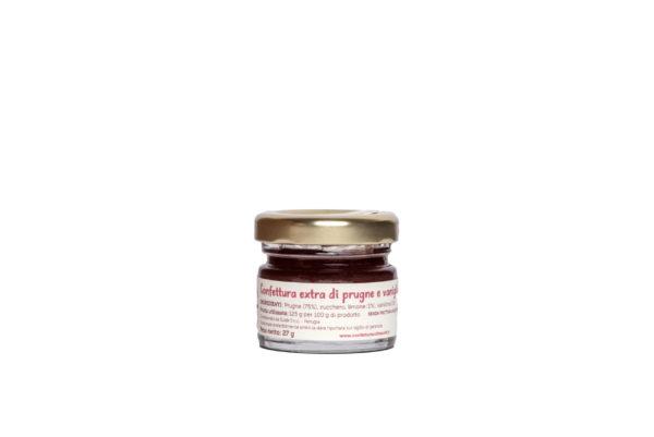 Monoporzione confettura extra di prugne e vaniglia