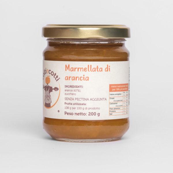 Marmellata artigianale di arancia - formato 212ml