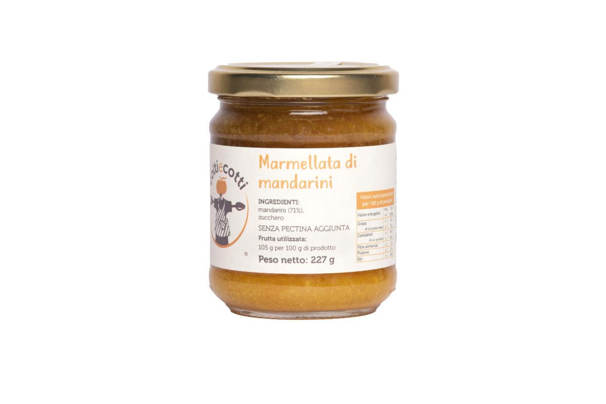 Marmellata artigianale di mandarini formato 212ml
