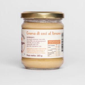 Crema artigianale di ceci al limone - formato 212ml
